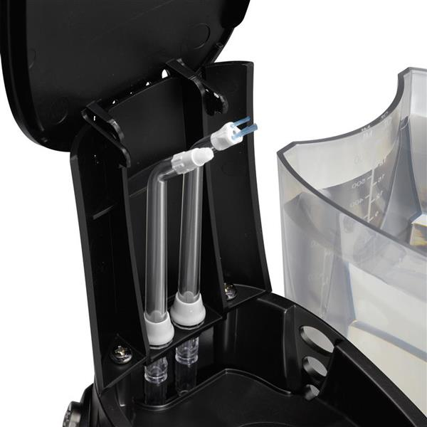 On Board Tip Storage - WP-662 Black Ultra Professional Water Flosser
